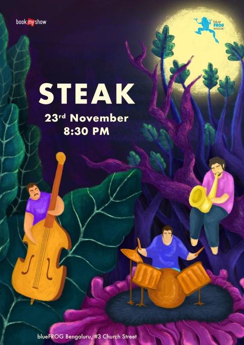 Artwork of the Steak concert in Bangalore